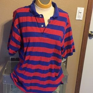 Ralph Lauren navy and red cotton Polo shirt, L